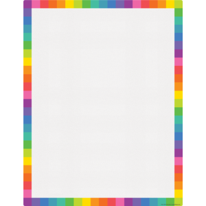 TCR7109 Colorful Blank Write-On/Wipe-Off Chart Image