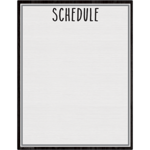 TCR7111 Modern Farmhouse Schedule Write-On/Wipe-Off Chart Image