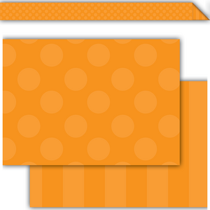 TCR73151 Orange Sassy Solids Double-Sided Border Image