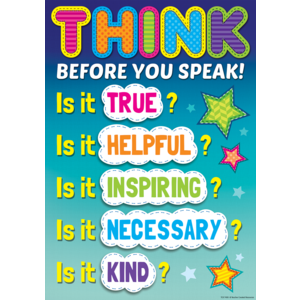 TCR7408 Think Before You Speak Positive Poster Image
