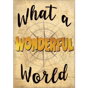 TCR7437 What a Wonderful World Positive Poster Image