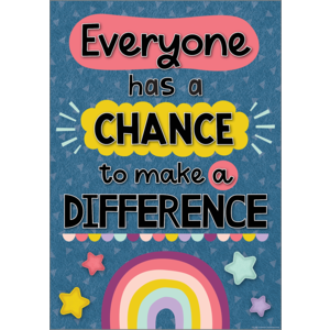 TCR7447 Everyone Has a Chance to Make a Difference Positive Poster Image
