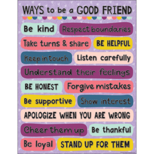 TCR7450 Oh Happy Day Ways to be a Good Friend Chart Image
