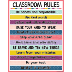 TCR7453 Oh Happy Day Classroom Rules Chart Image