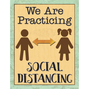 TCR7502 Travel the Map We are Practicing Social Distancing Chart Image
