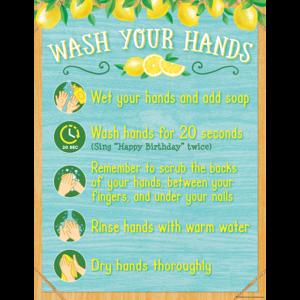 TCR7503 Lemon Zest Wash Your Hands Chart Image