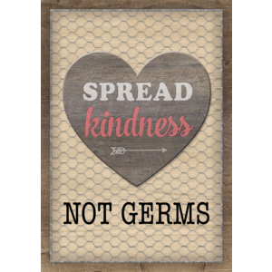 TCR7511 Spread Kindness Not Germs Positive Poster Image