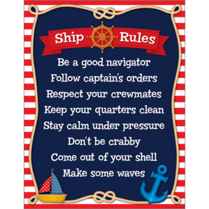 TCR7517 Nautical Ship Rules Chart Image