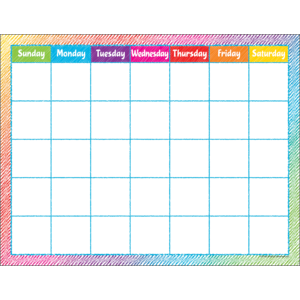 TCR7525 Colorful Scribble Calendar Chart Image