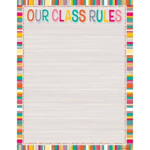 TCR7527 Tropical Punch Our Class Rules Chart Image