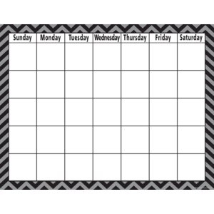 TCR7581 Black Chevron Calendar Chart Image