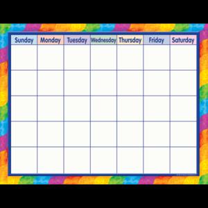 TCR7601 Rainbow Calendar Chart Image