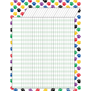 TCR7622 Colorful Paw Prints Incentive Chart Image