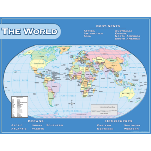 TCR7658 World Map Chart Image
