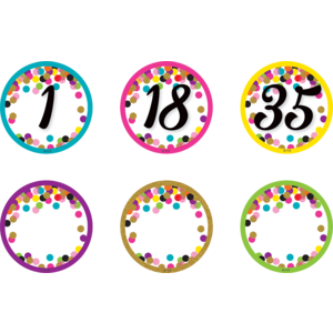 TCR77007 Confetti Numbers Magnetic Accents Image