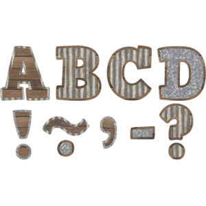 """TCR77011 Home Sweet Classroom Bold Block 3"""" Magnetic Letters Image"""