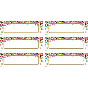 TCR77013 Confetti Labels Magnetic Accents Image