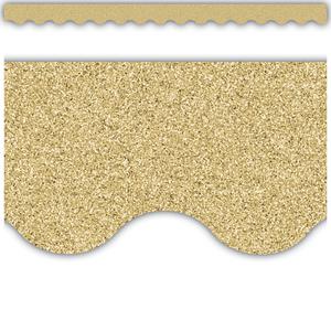 TCR77016 Gold Glitz Scalloped Border Trim Image