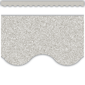 TCR77017 Silver Glitz Scalloped Border Trim Image