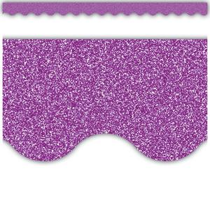 TCR77022 Purple Glitz Scalloped Border Trim Image