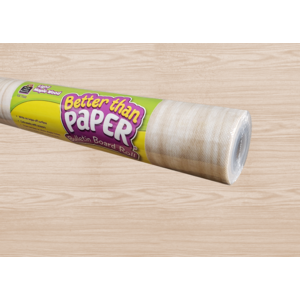 TCR77032 Light Maple Wood Better Than Paper Bulletin Board Roll Image