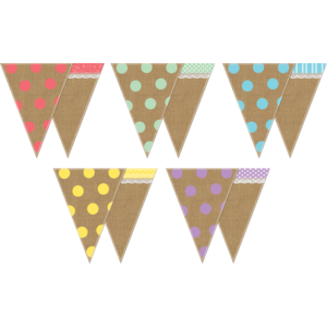 TCR77170 Shabby Chic Pennants Image