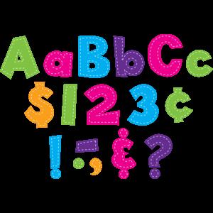 """TCR77177 Multi Bright Stitch 4"""" Fun Font Letters Image"""