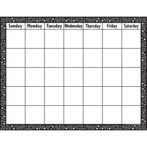 TCR7718 Black & White Crazy Circles Calendar Chart Image