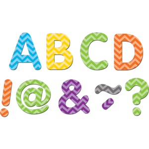 "TCR77187 Chevron Classic 2"" Magnetic Letters Image"