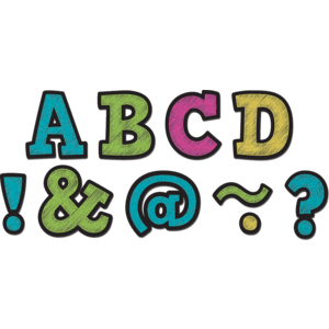 """TCR77190 Chalkboard Brights Bold Block 2"""" Magnetic Letters Image"""