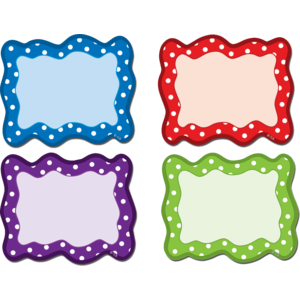 TCR77210 Polka Dots Blank Cards Magnetic Accents Image