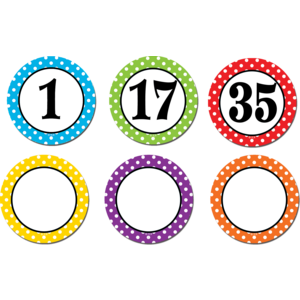 TCR77211 Polka Dots Numbers Magnetic Accents Image