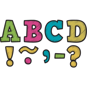 """TCR77212 Chalkboard Brights Bold Block 3"""" Magnetic Letters Image"""
