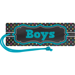 TCR77278 Chalkboard Brights Magnetic Boys Pass Image