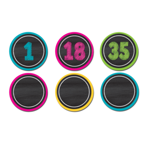 TCR77280 Chalkboard Brights Numbers Magnetic Accents Image