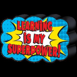 TCR77288 Superhero Magnetic Whiteboard Eraser Image