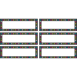 TCR77299 Chalkboard Brights Labels Magnetic Accents Image