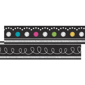 TCR77312 Chalkboard Brights Ribbon Runner Image