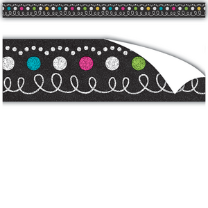 TCR77333 Clingy Thingies Chalkboard Brights Strips Image