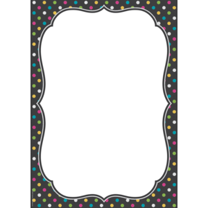 TCR77348 Clingy Thingies Chalkboard Brights Large Note Sheet Image