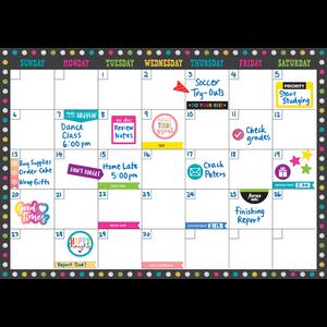 TCR77349 Clingy Thingies Chalkboard Brights Calendar Set Image