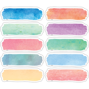 TCR77362 Watercolor Labels Magnetic Accents Image