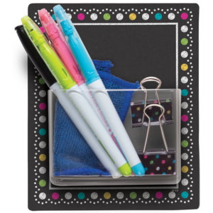 TCR77377 Clingy Thingies Chalkboard Brights Storage Pocket Image