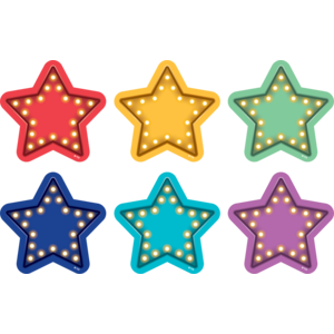 "TCR77378 Spot On Marquee Stars Vinyl Floor Markers - 4"" Image"