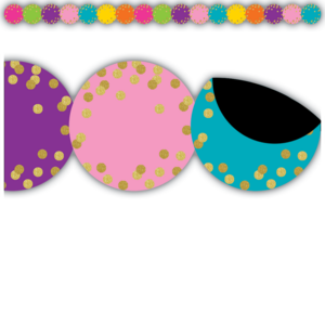 TCR77390 Confetti Circles Die-Cut Magnetic Border Image