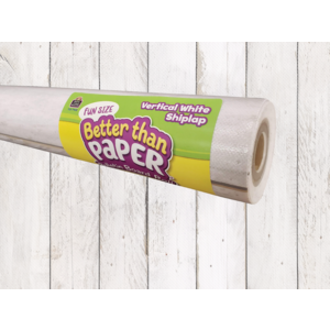 TCR77402 Fun Size Vertical White Shiplap Better Than Paper Bulletin Board Roll Image