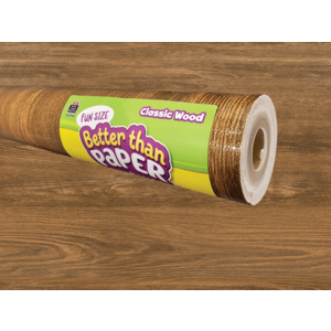 TCR77447 Fun Size Classic Wood Better Than Paper Bulletin Board Roll Image