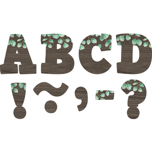 "TCR77485 Eucalyptus Bold Block 3"" Magnetic Letters Image"
