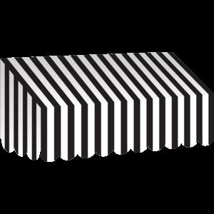 TCR77505 Black & White Stripes Awning Image