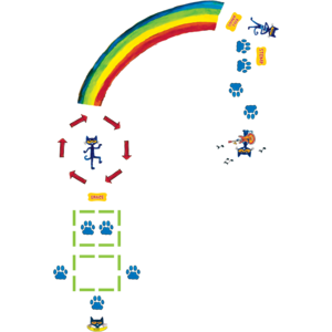 TCR77543 Pete the Cat Rainbow Boogie Sensory Path Image